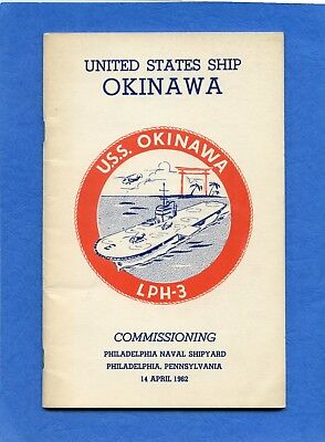 USS Okinawa LPH 3 Commissioning Navy Ceremony Program