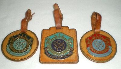 Santa Ana Golf Country Club Member Guest 1994 95 96 Leather Bag Tags Lot of 3