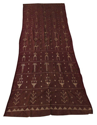 Handcrafted Egyptian Assuit Silver metal net tulle fabric Wrap Shawl Scarf #07