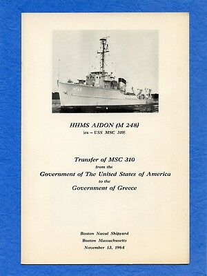 USS MSC 310 Transfer And Commissioning Navy Ceremony Program