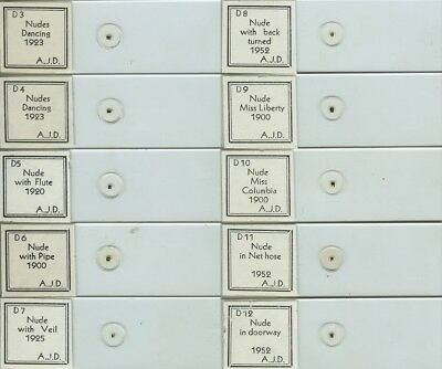 10 Nude Microphotograph Microscope Slides by A.J. DiDonato