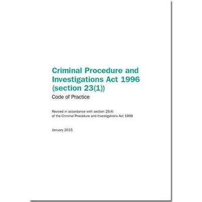 Criminal Procedure and Investigations Act 1996 (Section - Paperback NEW Great Br