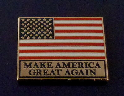 MAKE AMERICA GREAT AGAIN lapel pin US FLAG gold President Donald J.Trump MAGA