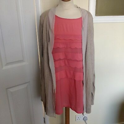Next 2 In 1 Maternity Cardigan And Top size 22 immaculate