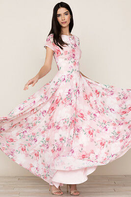 c769ed90e336 Yumi Kim Pink Rosy Maxi Dress Size XS/S Floral NEW Anthropologie Cherish