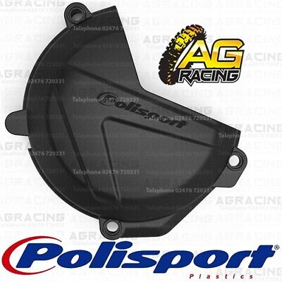 Polisport Black Clutch Cover Protector For Husqvarna FC 250 350 FE 250 350
