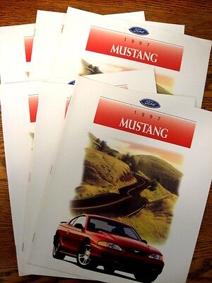 1997 Ford Mustang Dealer Sales Brochure LOT (6) pcs, GT, Convertible
