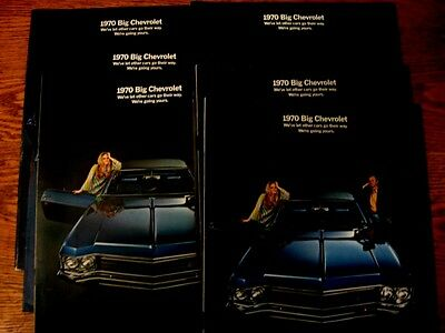 1970 Chevrolet Big Car Brochure LOT (6) pcs, Caprice Impala Bel Air
