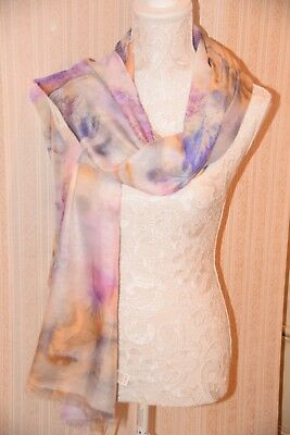 M & S Limited Edition Pretty Coloured Long Scarf Bnwt