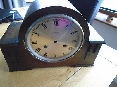 Vintage Henderson Mantel Clock Case Art Deco angular features
