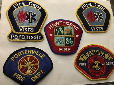 5 Different California Fire Patches