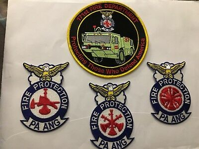 4 PA Air Guard Fire Patches 171st Pittsburgh