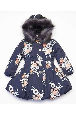 girls A Dee navy coat age 6 size 116