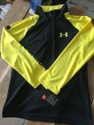 NWT UNDER ARMOUR 1/4 Zip Pullover LS Shirt Youth Boys 6
