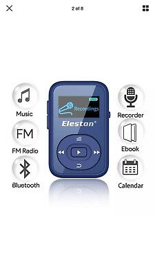 Eleston 8GB Clip Bluetooth Portable MP3 Music Player with HiFi Music,...