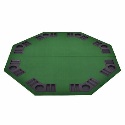 4'x4' Folding 8 Player Octagon Poker Card Game Table Top Holdem Chip Cup Holder