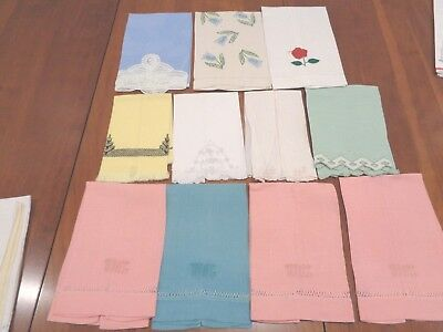 Large collection of Antique 100% Linen hand towels 15 in all