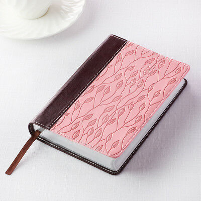 KJV Holy Bible King James Version Brown/Pink Compact Edition Red Letter NEW