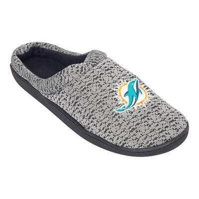 9550198c NFL POLY KNIT Cup Sole Slide Slippers Miami Dolphins NEW