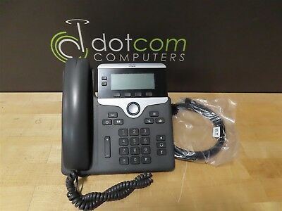 Cisco CP-7821-K9 7821 2-Line SIP Phone Display with Base and Handset Ethernet