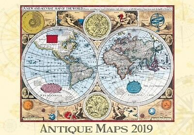 Antique Maps Wall Calendar 2019 by Helma