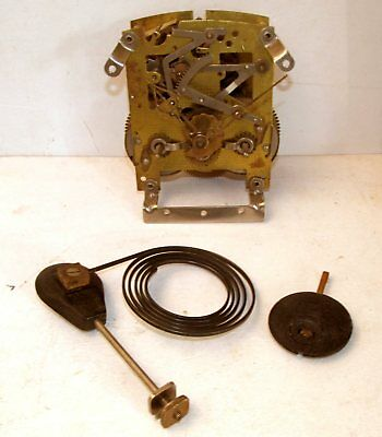 "Vintage ""Smiths Enfield"" Brass Striking Mantel Clock Mechanism & Parts"