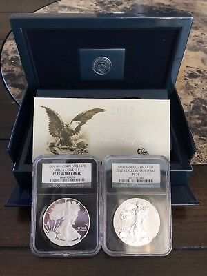 2012 San Francisco Silver Eagle Two-Coin Proof and Reverse Set
