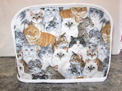 Lots of Cats cotton fabric Handmade 2 slice toaster cover (ONLY)