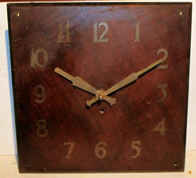 Vintage Smiths SEC Sectric Electric Mantle/Wall Clock Oak Veneer Circa 50's