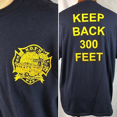 New Orleans French Quarter Fire Department NOFD Crew T-Shirt XL Mens Engine 29