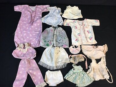 "Vintage Effanbee, Ideal, Madame Alexander 14"" 16"" Baby Doll Clothes Dresses"