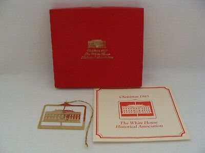 The White House Historical Association 1983 Brass Christmas Ornament