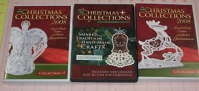 OESD CHRISTMAS COLLECTION 2008 #1 #3 + 2007 #2 Embroidery Designs on CD