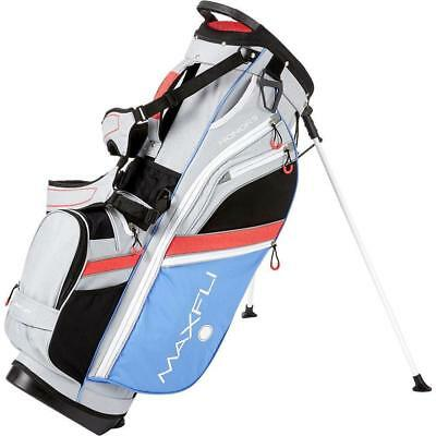 New Maxfli Honors Stand Bag Ladies Grey Coral Blue Lightweight Golf Stand Bag