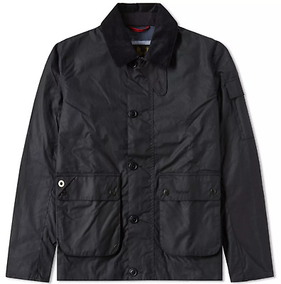 Barbour Men's Navy Deck Waxed Cotton Jacket