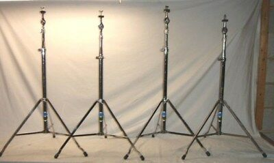 Four Vintage 1970's Ludwig Model 1402 ATLAS Vistalite Straight Cymbal Stands