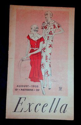 Vintage 1930s 1935 RARE Excella Sewing Pattern Catalog Fashion Brochure NRA