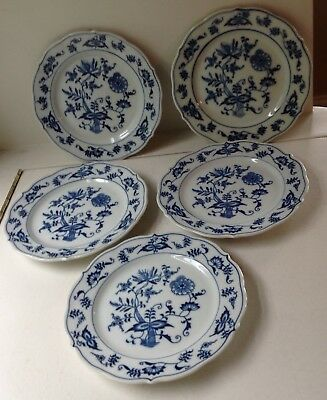 Vintage Blue Danube Blue Onion Bread And Butter Plate Set Of 5