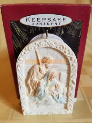Hallmark 1993 He Is Born Nativity Christmas Ornament