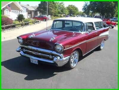 1957 Chevrolet Bel Air/150/210 Nomad Wagon 1957 Chevy Nomad Wagon 350/Auto 4WDB PS Tilt Octane Red/Lexus Pearl White 55 56