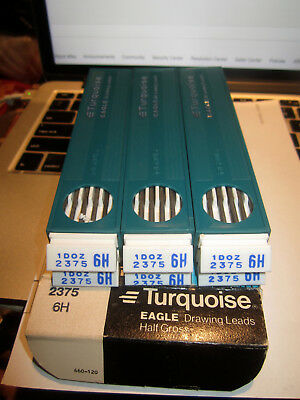Lot Of Eagle Pencil Company Turquoise Drawing Leads Drafting Leads 2375 6H