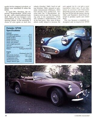 1959 1960 1961 1962 1963 1964 DAIMLER SP250 5pg Color Article