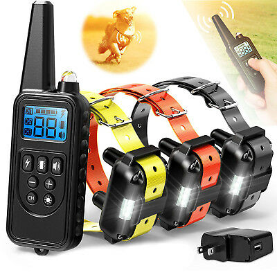 Pet Training Dog Shock Collar W/ Remote Waterproof Electric For Large 880 Yard