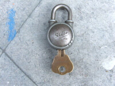 1950s SIDCO (SIDCHROME) PADLOCK & KEY--COLLECTABLE
