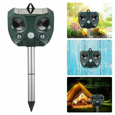 KCASA Solar Ultrasonic Bird Animal Repellent Pest Repeller Motion & LED LIght AU