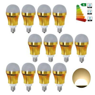 6/12Pcs 3W E12 Candelabra LED SMD Gold Globe Bulb Light Spot Lamp Warm White US