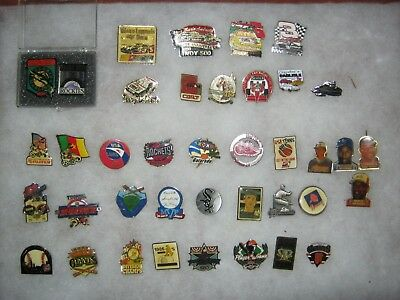 Baseball, Indy, Nascar   Sports Pins Lot   38 Different