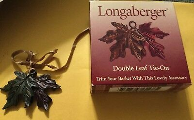 Longaberger 2000 Double Leaf Tie-On #73393-NIB