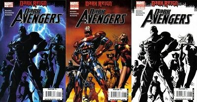 Dark Avengers 1 1st 2nd 3rd printing lot 1st appearance Iron Patriot movie