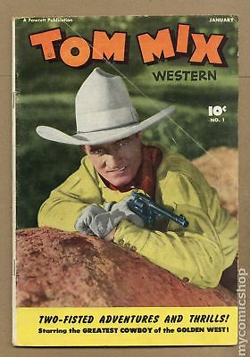 Tom Mix Western (Fawcett) #1 1948 VG- 3.5